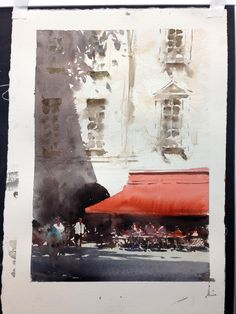 The Joseph Zbukvic Workshop, pt. My Work and Critiques — Seamless Expression Watercolour Tutorials, Watercolor Artists, Watercolour Painting, Painting & Drawing, Watercolours, Drawing Tips, Watercolor Architecture, Watercolor Landscape, Joseph Zbukvic