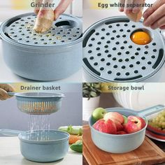 Multi-functional and versatile, this 8 in 1 Mandoline Slicer Cutter Chopper and Grater is truly a time-saving, kitchen tool that certainly lives up to its name! Cool Kitchen Gadgets, Cool Gadgets, Kitchen Tools, Cool Kitchens, Kitchen Items, Kitchen Utensils, Mandoline, Veggie Patties, Pot Mason