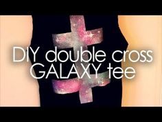 DIY Double cross galaxy tee