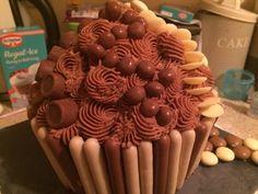 Chocolatey Giant Cupcake