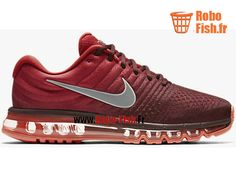 Nike Air Max 2017 - Chaussure Nike Running Pas Cher Pour Homme Rouge 849559-601 Nike Lebron, Nike Sportswear, Nike Huarache, Air Max 2017 Homme, Nike Officiel, Nike Air Max, Air Max Sneakers, Sneakers Nike, Tn Nike