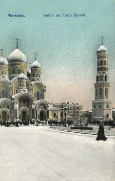 Orthodox Church in the Saski Square, postcard around 1912 -1914