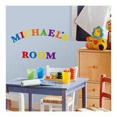 RoomMates RMK1253SCS Express Yourself Primary Colors Peel and Stick Wall Decals ** More info could be found at the image url. (This is an affiliate link) #DecorativeAccessories