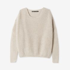 FIG SWEATER by Nicholson & Nicholson. A boxy, oversized pullover in a slightly fuzzy rib knit. Cute Sweaters, Long Sweaters, Jersey Oversize, Lady Grey, Pink Sweater, Pulls, Autumn Winter Fashion, Fall Winter, Dame