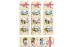 Victorian Tea BookmarksTags  Digital Download Tea by sssstudio, etsy and Colette's mom - check out her shop!!!