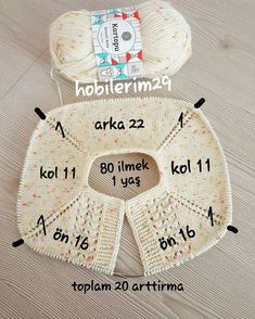 Crochet Heklanje: Kvadratni motiv sa ananasima za salvete i stolnjake - Moj rad 136 - sanfranciscostreets Baby Knitting Patterns, Baby Sweater Patterns, Baby Cardigan Knitting Pattern, Knitted Baby Cardigan, Knitting For Kids, Easy Knitting, Knitting Stitches, Baby Patterns, Knitting Projects