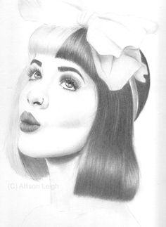 Melanie Martinez drawing room decor wall art by PoeticPortraitsCo