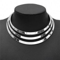 ed4f452b1b30 US Choker Necklace Women Gorgeous Metal Multilayer Statement Bib Collar  Necklace Condition  100% brand