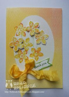 Beth's Paper Cuts: Watercolor Wonder Designer Note cards!