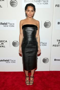 More Pics of Zoe Kravitz Leather Dress (12 of 14) - Leather Dress Lookbook - StyleBistro