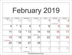 February 2019 Calendar For India 188 Best February 2019 Calendar images