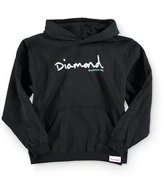 Diamond Supply Co. Boys OG Script Black Hoodie