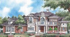 "Sater Design Collection's 8001 ""Royal Country Down"" Home Plan from our European House Plan Portfolio..."
