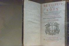 The Spirit of the Laws. Montesquieu. First Volume. Amsterdam, 1749. (Deutsche Historisches Museum)