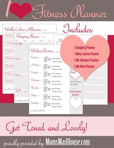 Grab this free printable fitness planner to help you get back on track to a healthier you! Fitness Binder, Fitness Journal, Fitness Planner, Workout Planner, Wellness Fitness, Fitness Nutrition, Health And Wellness, Printable Workouts, Free Printable