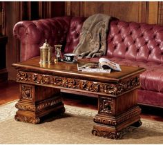Avignon Coffee Table by Design Toscano. $750.00. Solid mahogany. Hand finished. Design Toscano exclusive. AF7385 Features: -Solid mahogany. Color/Finish: -Finish: Cherry.-Hand finished.