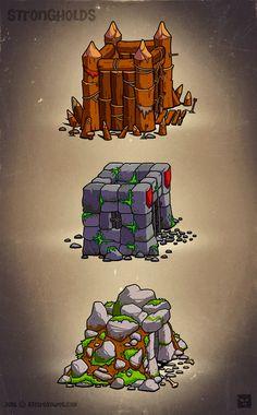 Castles, Strongholds  - EatCreatures.com by Daniel Ferenčak |||| #gameart…