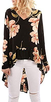 high low tops for women: Clothing, Shoes & Jewelry High Low Top, Slim Fit, Elegant, Blouse, Long Sleeve, Tops, Sleeves, Beauty, Clothes