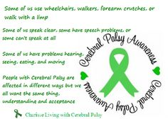 May is Cerebral Palsy Awareness Month Cerebral Palsy Causes, Cerebral Palsy Awareness, Epilepsy Awareness, Disability Awareness, Cerebral Palsy Quotes, Tribal Tattoos, Tattoos Skull, Cerbral Palsy, Disability Quotes