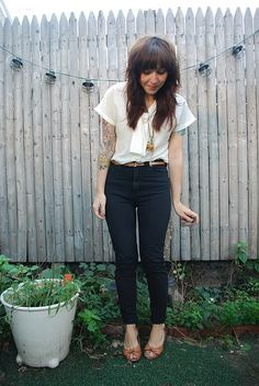tailored high-waisted pants