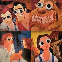 Googly eyes make everything better, even Disney movies.  I can't stop laughing at this.