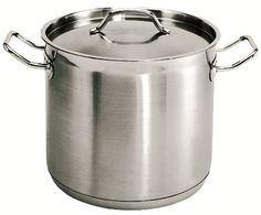 12 Qt. Stainless Steel Stock Pot, Induction Ready 3-Ply Clad Base, w/Lid *NSF* Commercial Grade *Great Quality* *** Click on the image for additional details.
