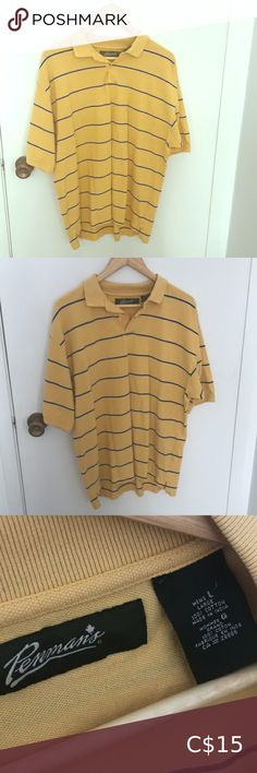 Shop Women's Yellow size L Tees - Short Sleeve at a discounted price at Poshmark. Looks really good tucked in black high waisted jeans. High Waisted Black Jeans, High Waist Jeans, Yellow Stripes, Tees, Shirts, Best Deals, Blouse, Sleeve, Things To Sell
