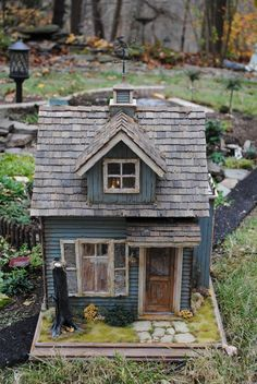 Witches Cottage  Dollhouse  112 Scale by dollhousesbyliz on Etsy, $1495.00