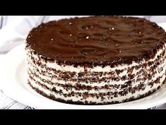 It is made very easy and with economical ingredients. Because of its taste it seems to be a cake from a good bakery. Kitchen Recipes, Baking Recipes, Cake Recipes, Dessert Recipes, Desserts, No Bake Chocolate Cake, Good Bakery, Cake Servings, Food Humor