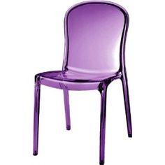 Kartell Thalya Style Chair (Transparent Purple)