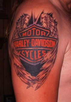 harley davidson tattoos | Pin Harley Davidson Tattoo Eagle Wings picture to pinterest.