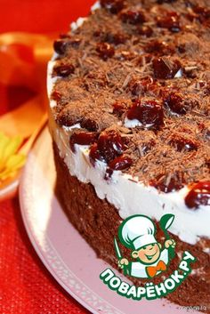 Рецепт: Торт Шоколадно-молочная девочка