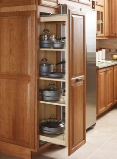 Keep heavy pots and pans within easy reach with a Tall Pantry Pullout, from Diamond.