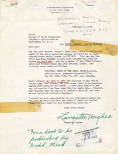 1958 letter by Langs