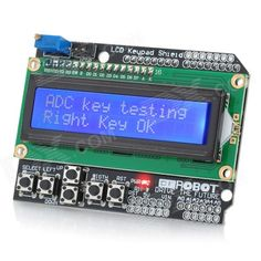 LCD Keypad Shield for Arduino Duemilanove & LCD 1602 (Works with Official Arduino Boards). This is a 16x2 LCD Keypad module for ARDUINO / Arduino Diecimila Duemilanove / FREEDUINO. The module is blue backlight with white words. This is a basic 16 character by 2 line white-on-green display. - This is a 16x2 LCD Keypad module for ARDUINO / Arduino Diecimila Duemilanove / FREEDUINO board - Blue Backlight with white words - uses 4 Bit Arduino LCD Library. Tags: #Electrical #Tools #Arduino #SCM…