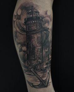 Photo by (jona_celinaa) on Instagram | #t#tat#tattoo#tattooed#tattooer#artist#ink#inked#tattooartist #tattooart #instagood #instagram #wildfangtattoo#bestoftheday #dorsten#germany#fun#love#wildfang#bestrealistictattoo#inkmagazine#tattoomagazine#tattoos#tattoomagazin#lowerlegtattoo#blackandgrey#blackandgreytattoo#lighthousetattoo Lower Leg Tattoos, Tatting, Tattoo Designs, Germany, Ink, Artist, Instagram, Bobbin Lace, Artists