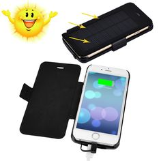"[New Release] Apple MFi Certified 3500mAh iPhone 6 4.7"" Solar Battery Case Juice Pack"