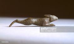 Fine art : Hare, bronze from Brolio (Tuscany). Etruscan civilization, 600-570 BC.