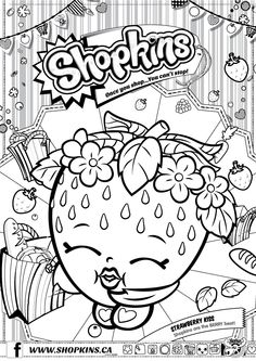 shopkins coloring pages season 1 strawberry kiss