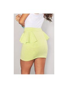Lime Green Floral Embossed Accent Peplum Skirt is a day-to-date dream! Go for a look that embodies chic feminine charm with this ultra sexy mini skirt. This easy-to-pair mini skirt transitions seamlessly from am to pm.