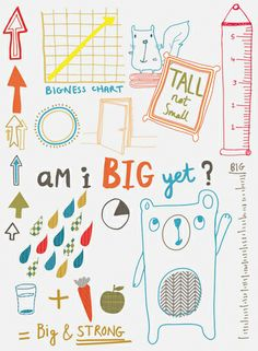 placement prints for small humans by Rosalind Maroney, via Behance