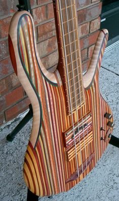 A Carl Thompson...funky in many ways. #bassguitar