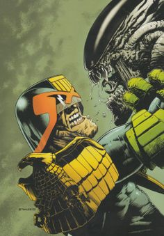 Judge Dredd vs Aliens