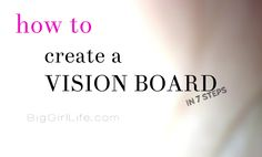 #HowTo Create A Vision Board in seven steps. This REALLY works!  Tons of people have told of their success with this concept. It keeps your goals and direction in the forefront of your mind. Fun to make, and uplifting to look at ans enjoy! Give it a try.