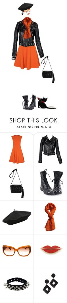 """Happy Halloween,October 31st With an Invisible  Doll In Leather Jacket and Mini Bag from Fereti😀"" by ragnh-mjos ❤ liked on Polyvore featuring Karen Millen, M&Co, Hermès, Oliver Peoples, Georgia Perry and Kenneth Jay Lane"