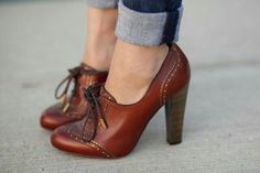 Adorable brown oxford heels