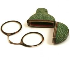 1770 Shagreen case   and folding glasses
