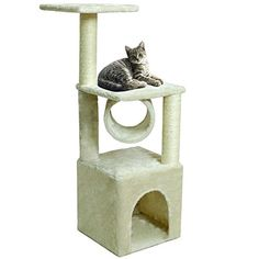 "Deluxe Cat Tree 36"" Condo Furniture Scratching Post Kitten Pet Play Toy House *** For more information, visit image affiliate link."