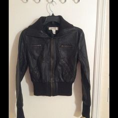 Black jacket Black jacket 100%polyester worn a few times good condition Jackets & Coats