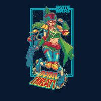 ShirtPunch: Skate Wars Boba Threatt